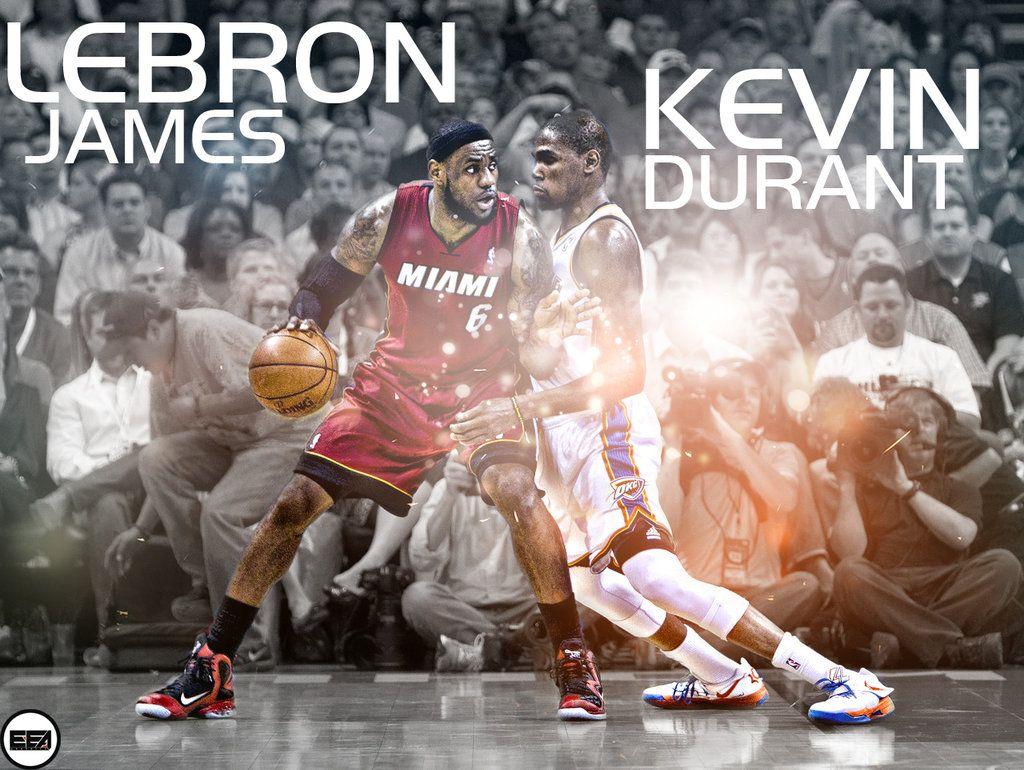 LeBron James Vs Kevin Durant by EmanuelooElArte.deviantart.com on @deviantART
