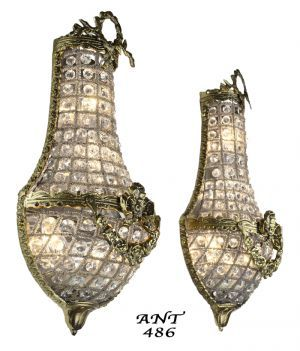 Basket Style Crystal Wall Sconce Lights