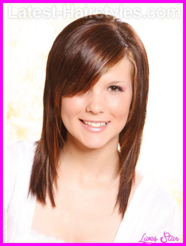 Cute Haircuts For Medium Hair Teenage Girls With Side Bangs Http