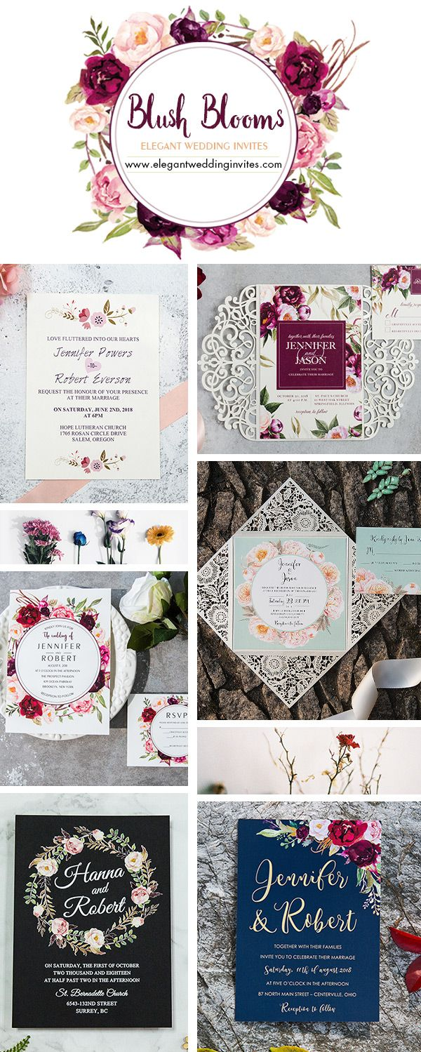 Invitations with florals for all seasons from Elegant Wedding ...
