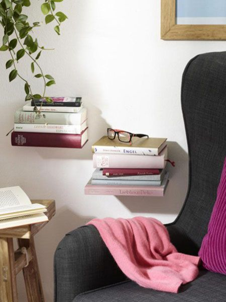 Estante para libros con libros Shelves Pinterest Estantes para