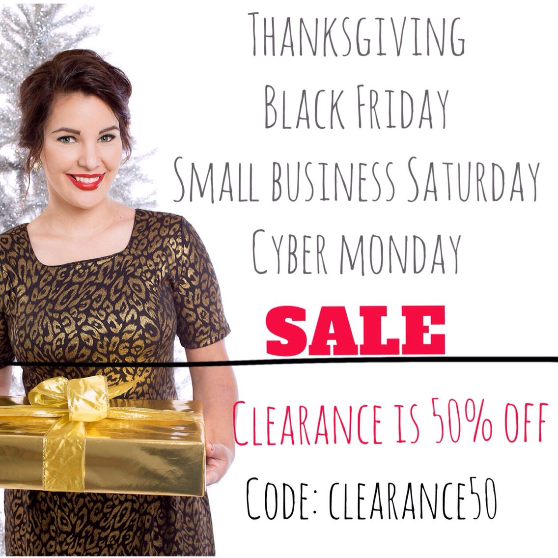 Thanksgiving, Black Friday, Small Business Saturday, and Cyber Monday SALE!