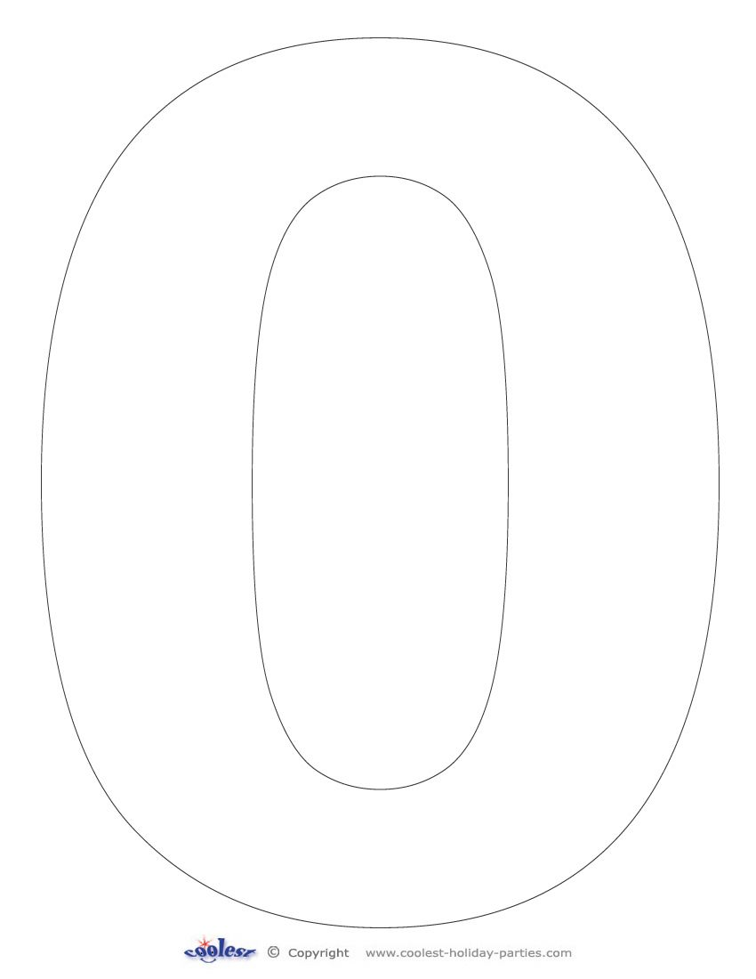 This number printable can be used as a simple coloring page and or as stencils you can use any of our printable numbers and shapes to create your own