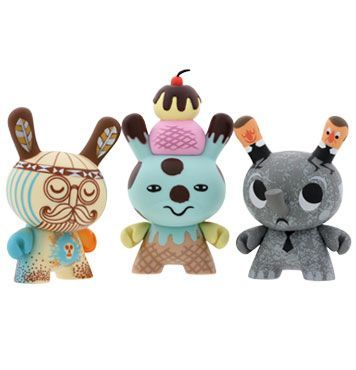 all Kidrobot products are awesome! (shown here are dunnys)