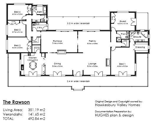 Ubuild Designs The Rawson Floor Plans Sims House Plans House Plans