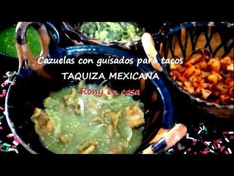 cazuelas de guisados para taquiza mexicana recetas fciles rony en casa