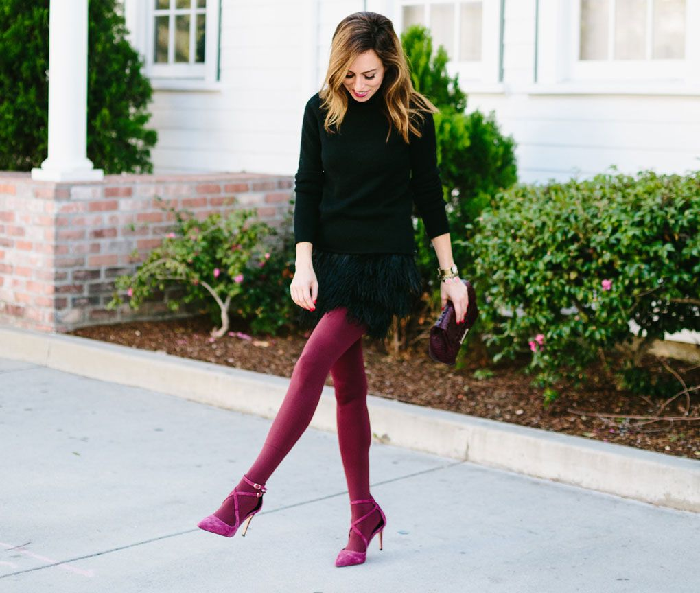 570715a14 Doesn t  sydnesummer look amazing  Sydne Style - Two Holiday Party Outfit  Ideas with Tights