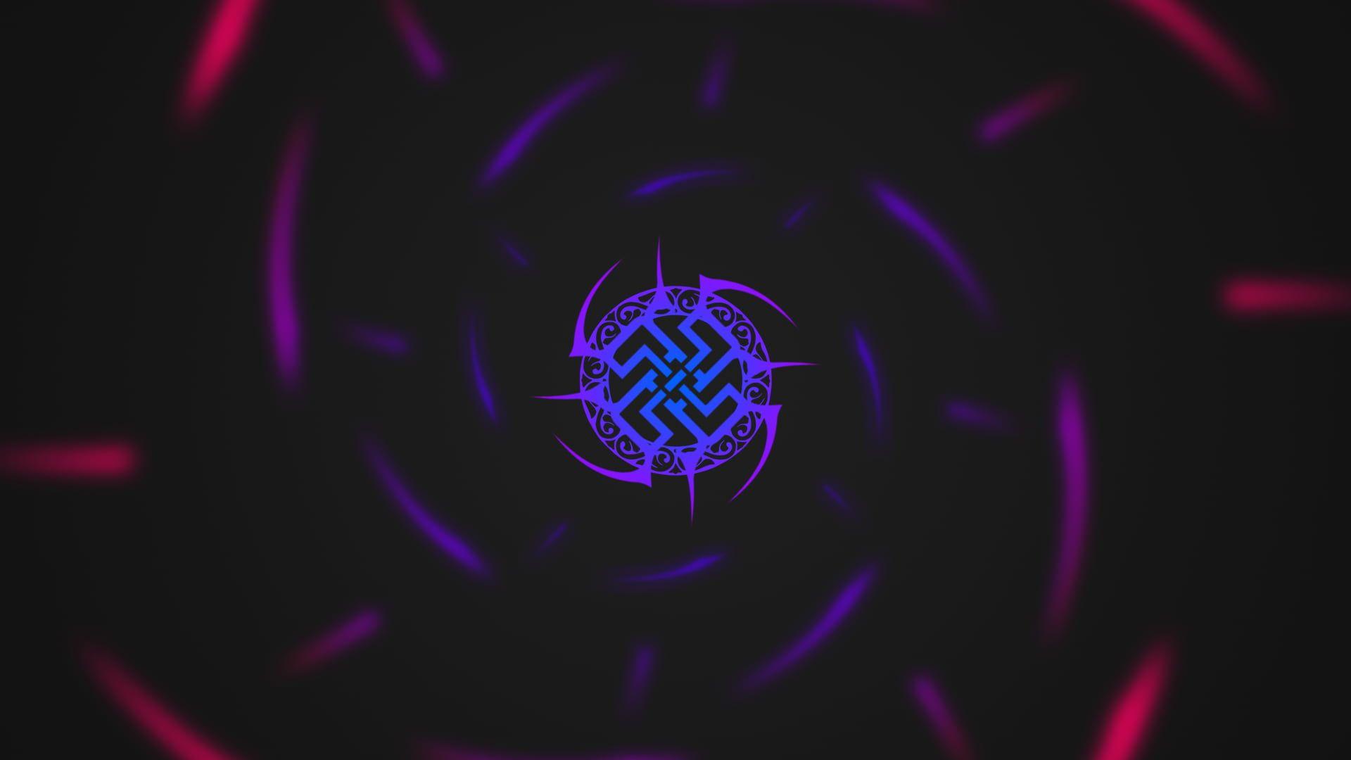 Tribal Logo Wallpaper Minimalism Black Colorful Tribal 1080p