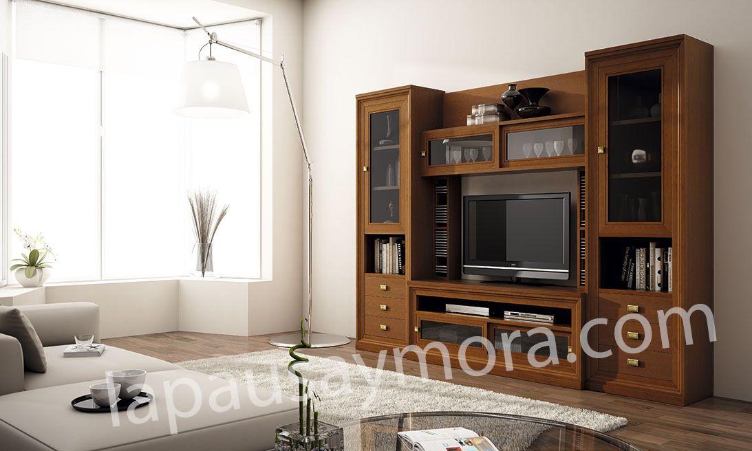 Mueble de comedor de Lapausa y Mora, colección Lore. Composición 04 con acabado en Cerezo 50.