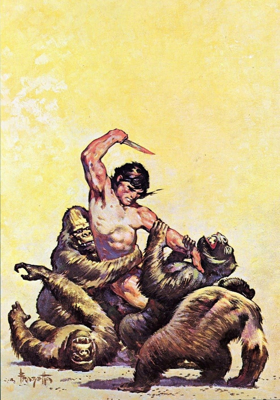 Frank Frazetta - 1962-Tarzan the Lion Man | Franzetta Vs Vallejo vs ...