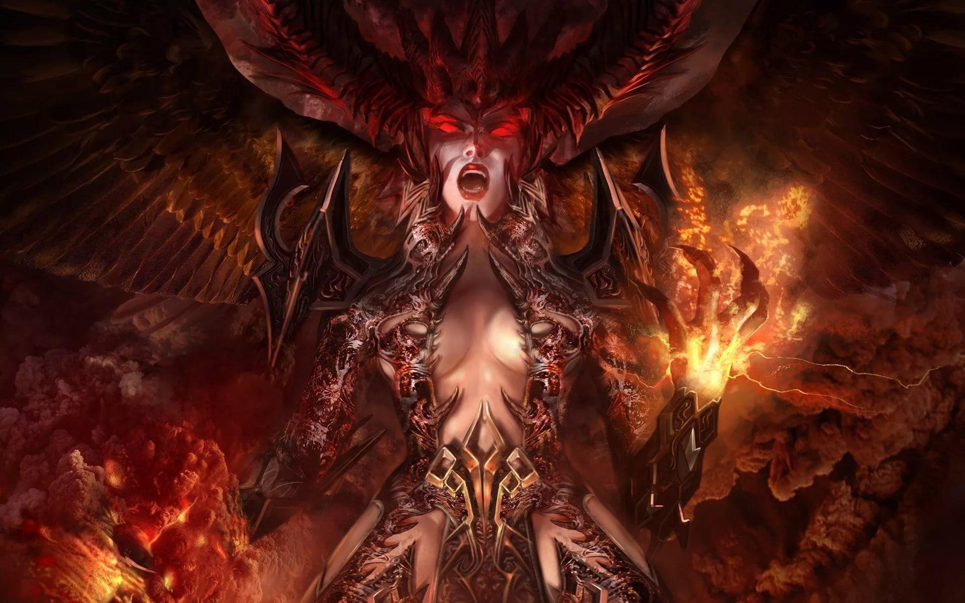 картинки с демонами для обоев моё первое