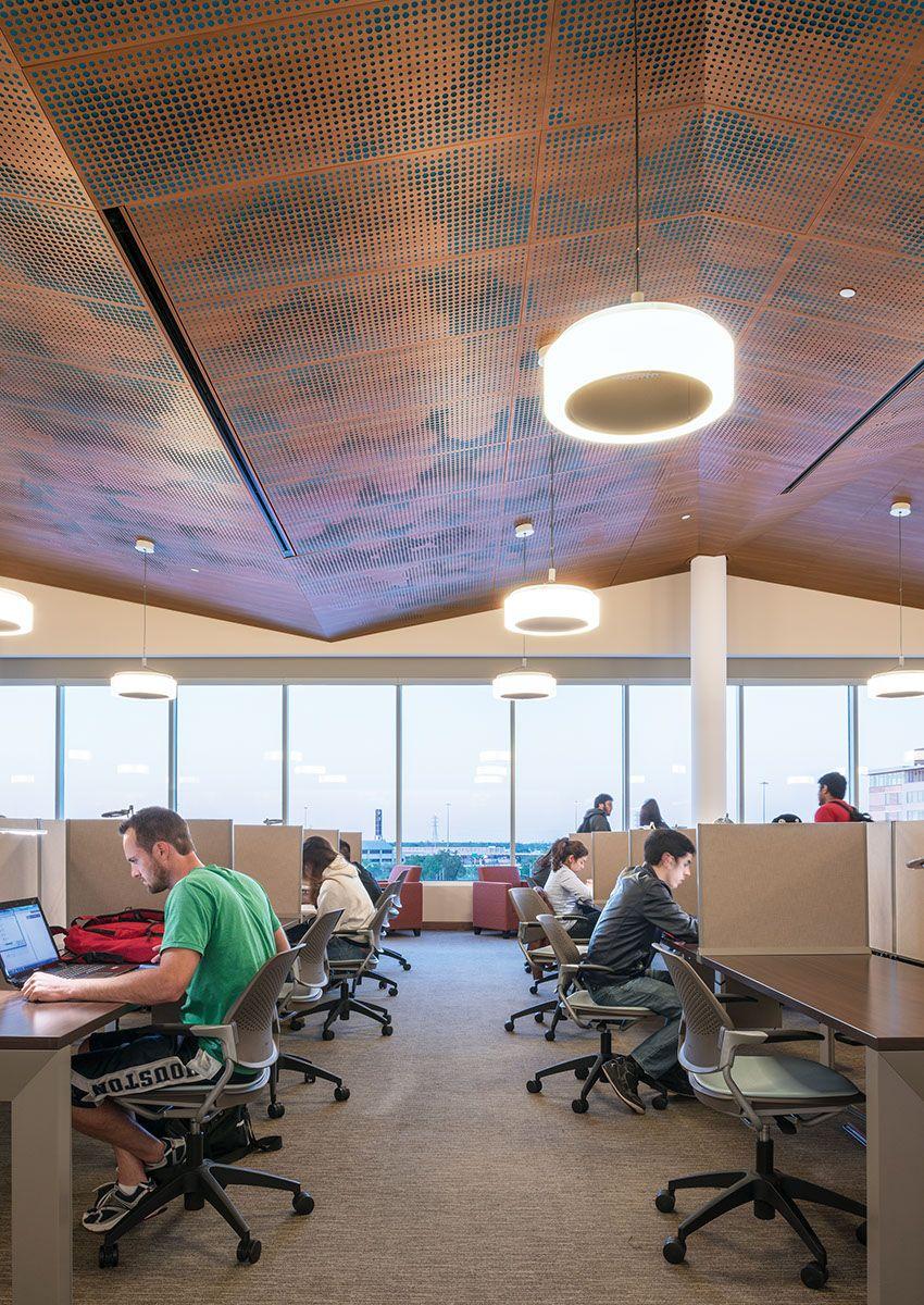 Ceilings Plus University Of Houston Quiet Hall Design Gensler Architects Photo Ryan