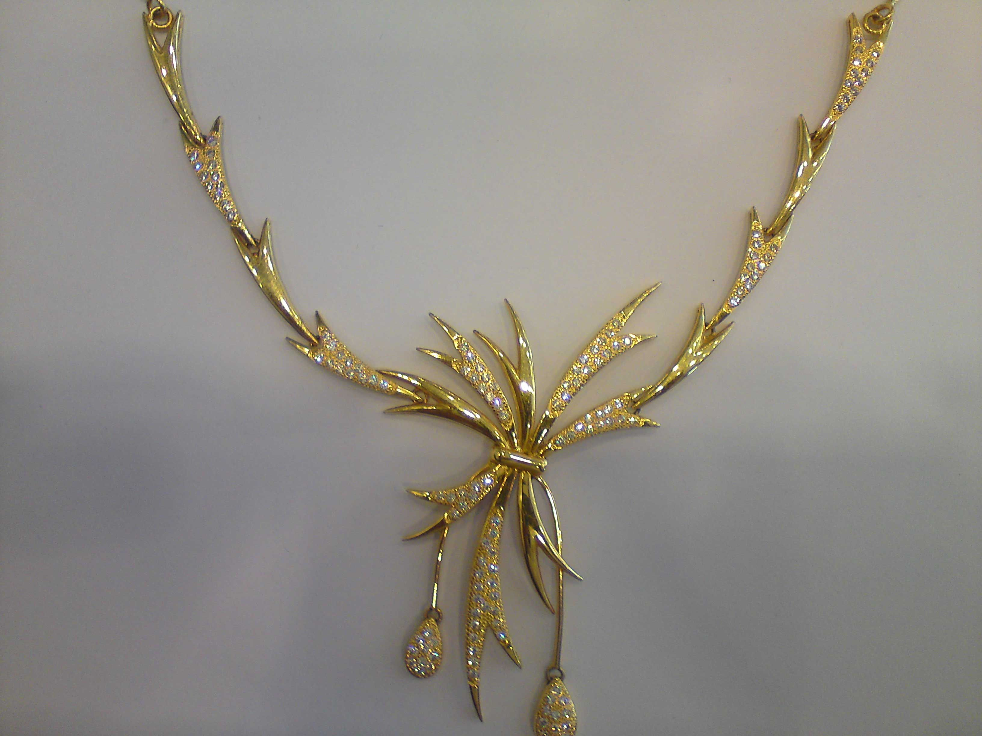 gold necklace for golden ladies necklace place
