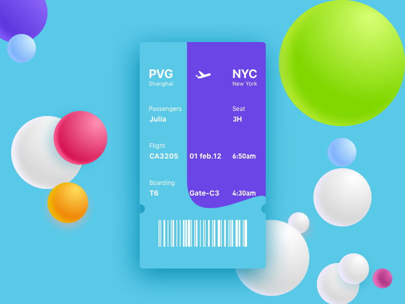 Boarding Pass Business Cards Layout Web Design Branding Design Inspiration