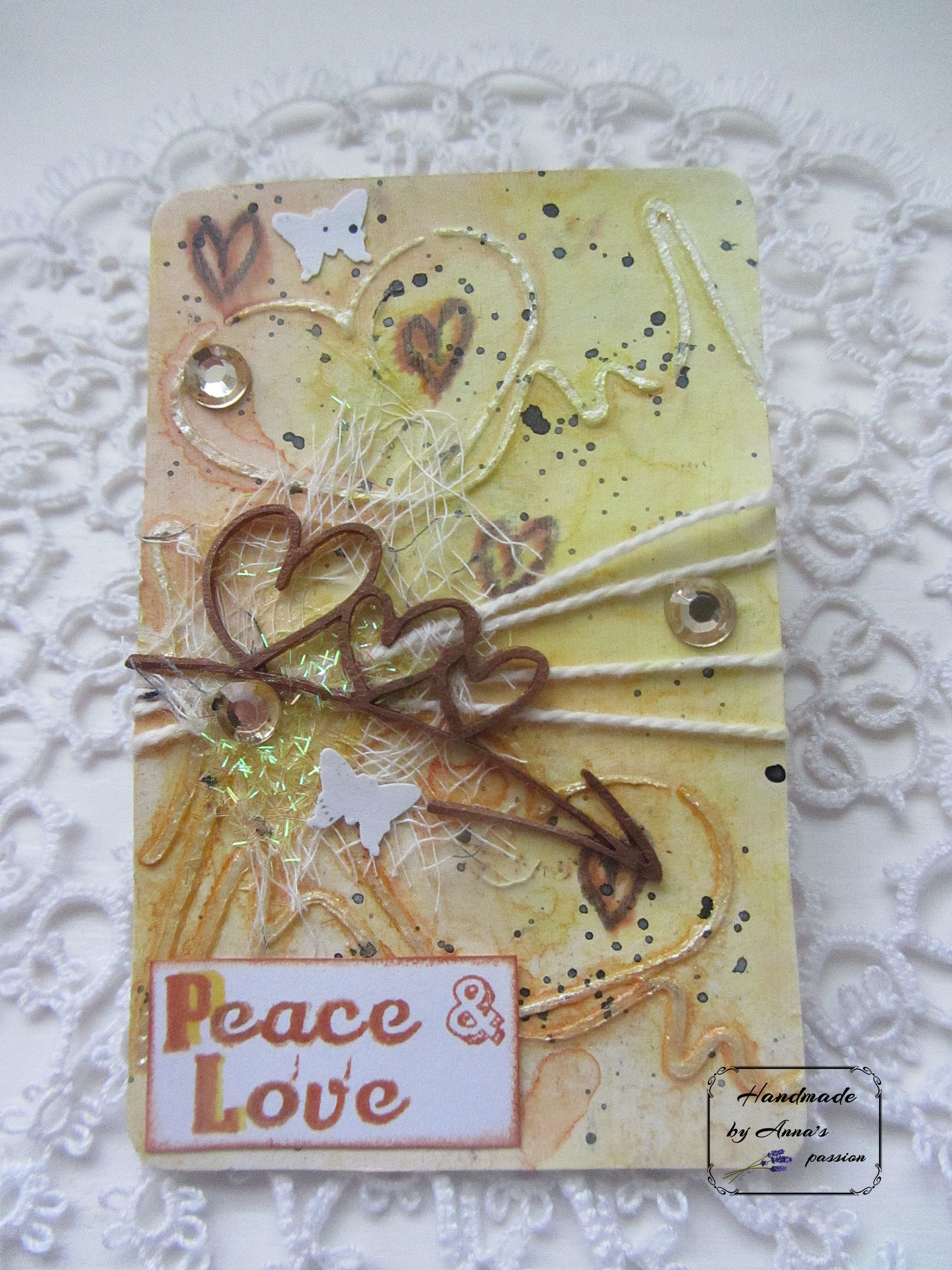 Here Is Mine Altered Poker Card Week 16 P Peace 52CafeCards Mixedmediaart