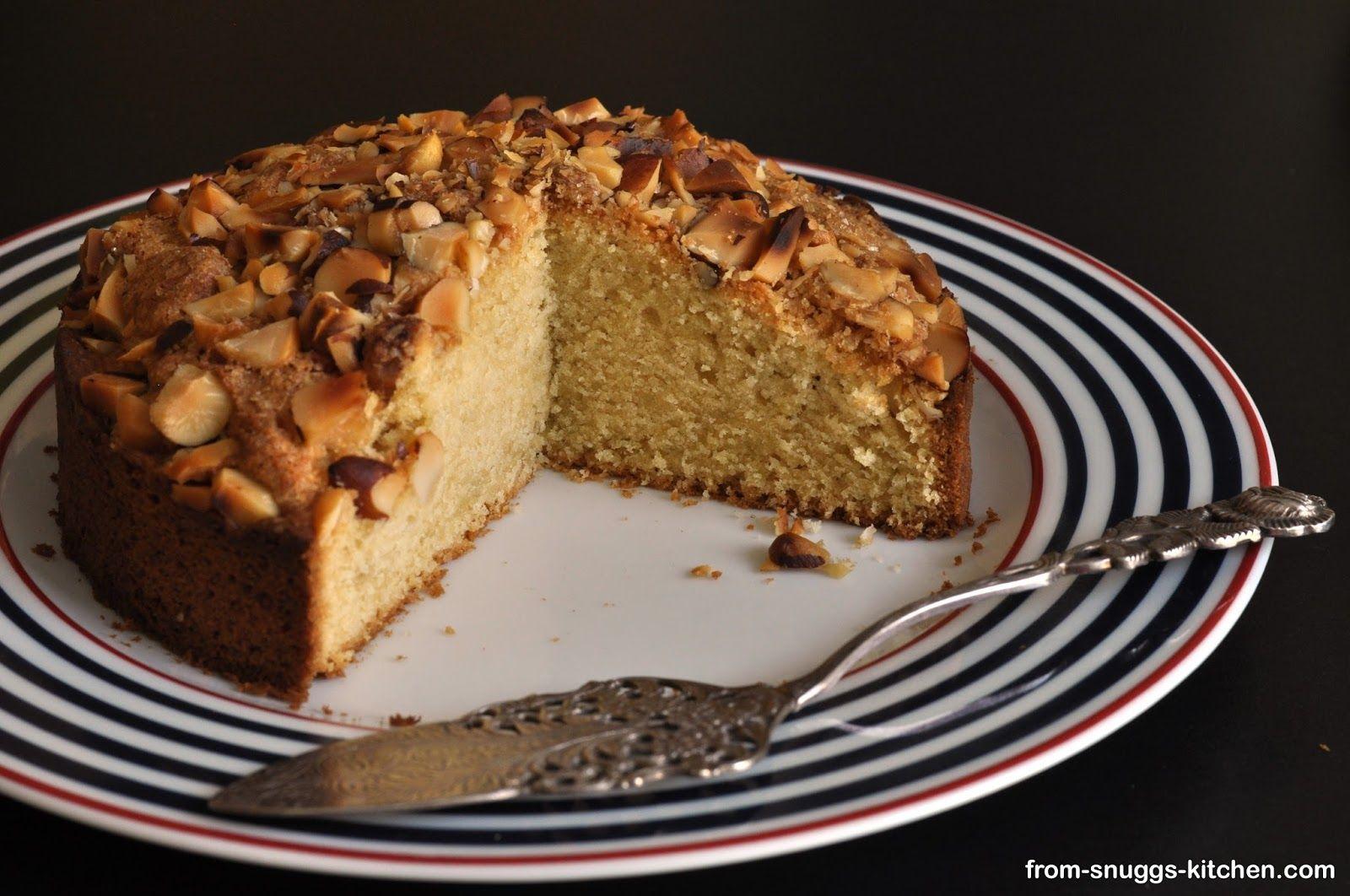 Sour Cream Coffee Cake Kuchen Mit Saurer Sahne Und Nussen From