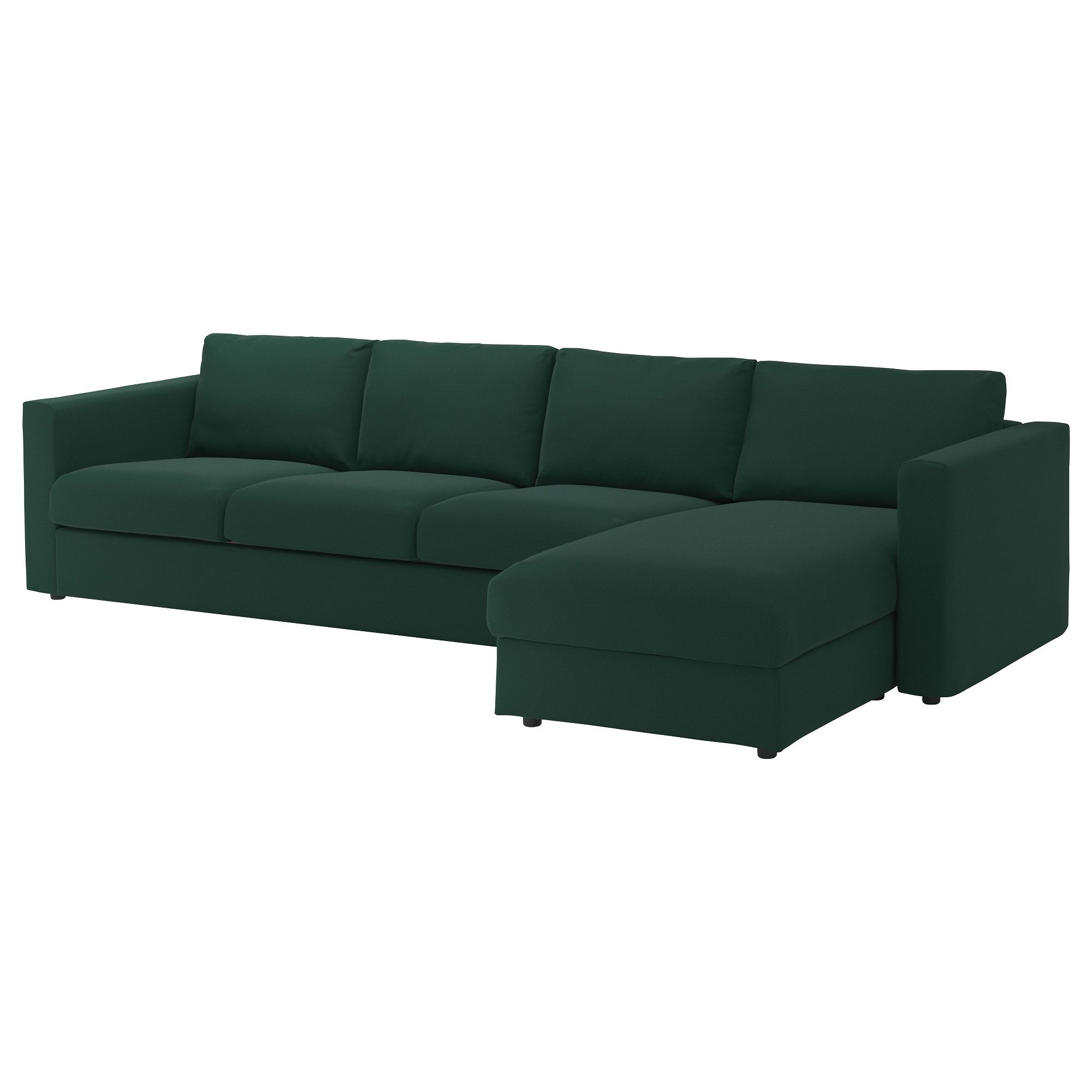 4er Sofa Vimle Mit Recamiere Gunnared Dunkelgrun In 2019 Products