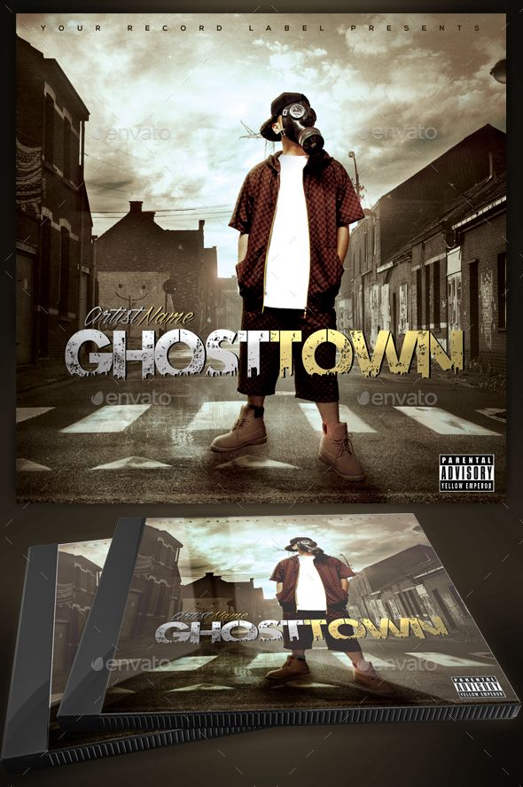 Ghost Town Mixtape / Cd Cover Template | Cd Cover Template, Cover