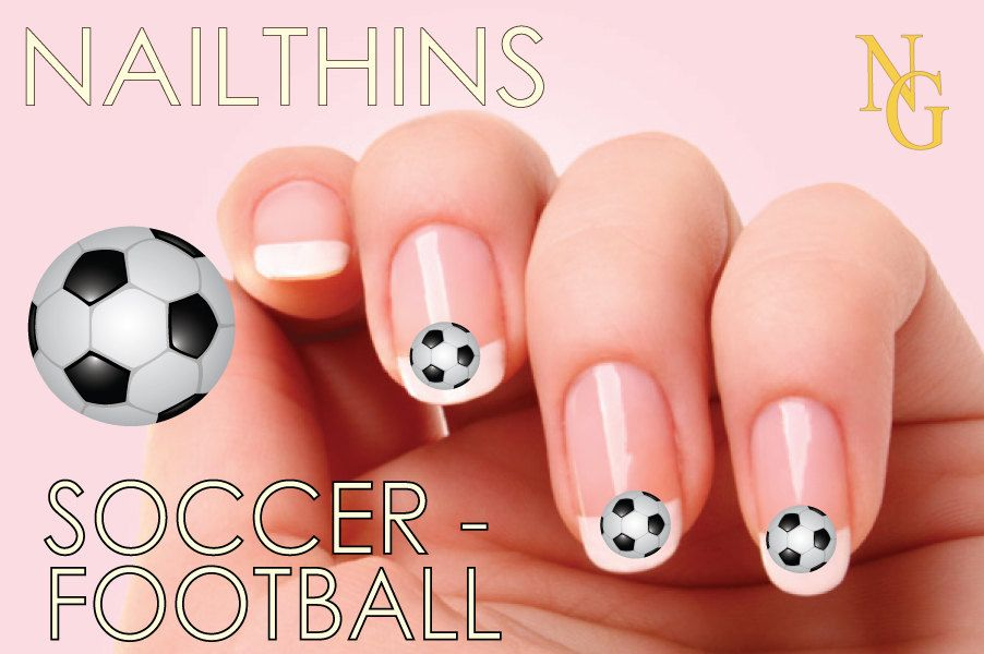 SOCCER Nail Decal Nail Art Nail Design NAILTHINS | Nail ...