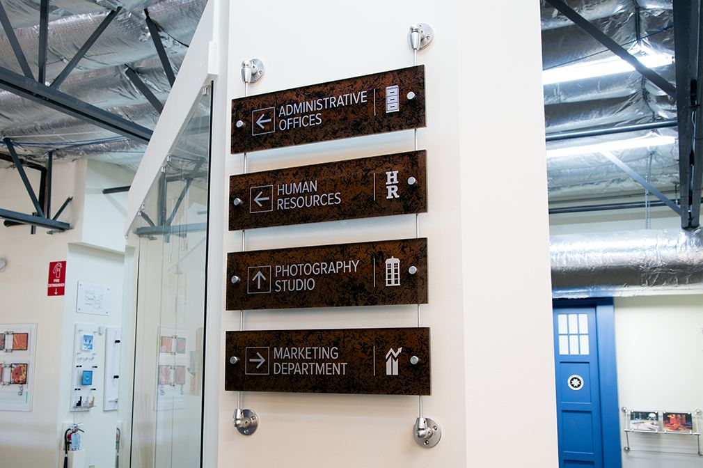 Gyford Rod System displays directory #Signage Signage \ Awards - copy blueprint consulting bellevue wa