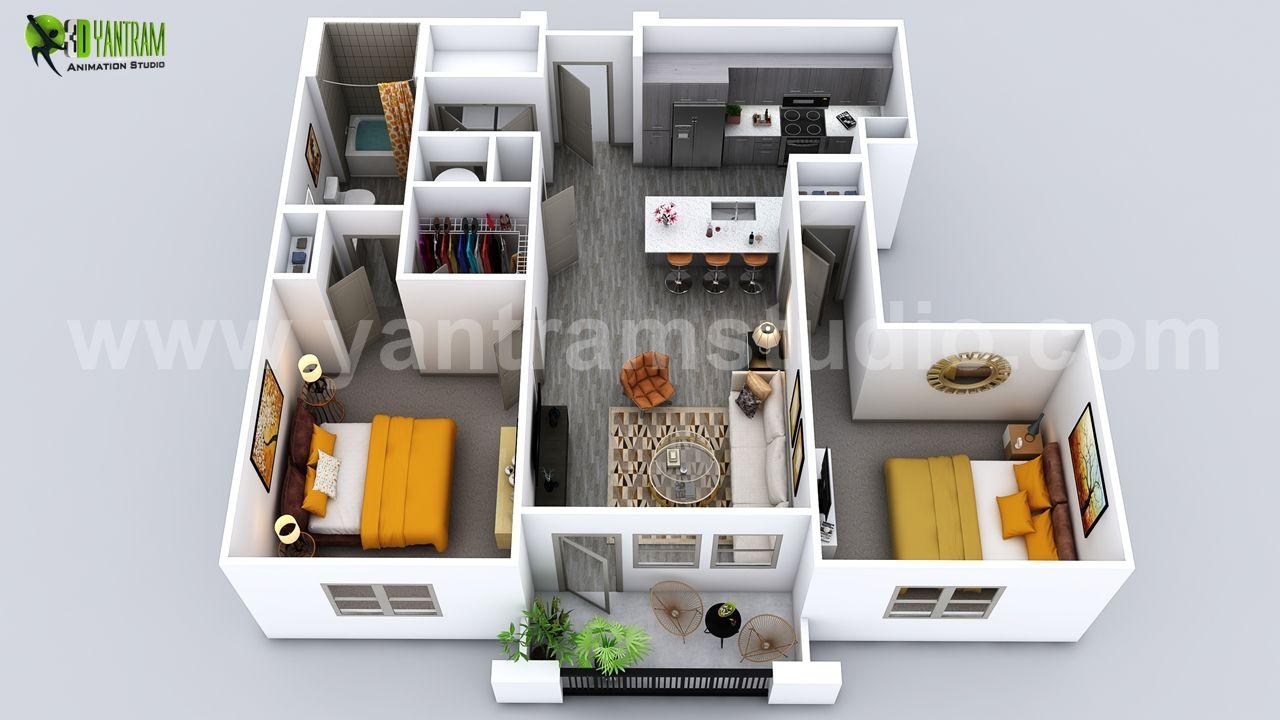 Luxuries 3d Home Floor Plan Design By Yantram Virtual Floor Plan Designer Florida Usa Architectural Design Studio Floor Plan Design Plan Design