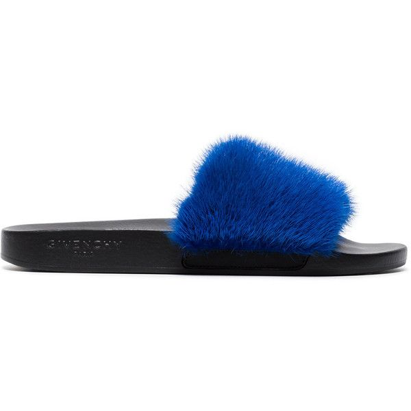 9eca71047b02 Givenchy mink fur sliders ( 595) ❤ liked on Polyvore featuring shoes