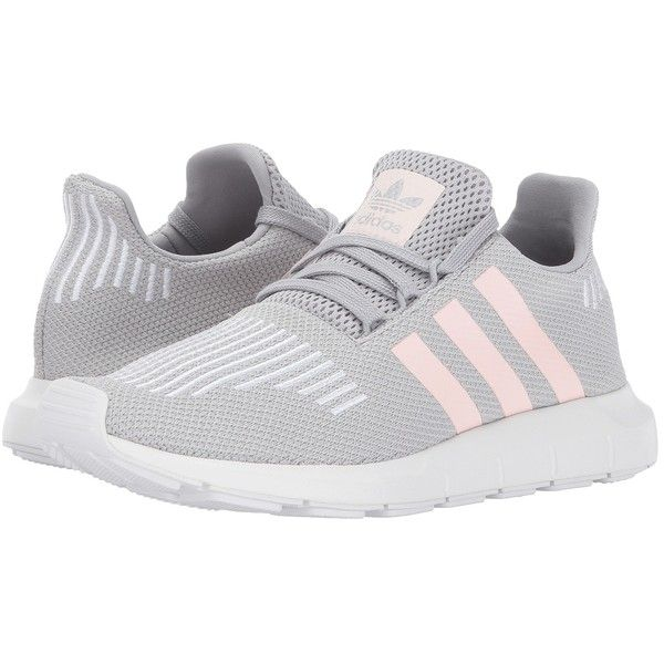 outlet store a27dc 8f00f adidas Originals Swift Run (Grey 1 Icey Pink White) Women s Running...  ( 85) ❤ liked on Polyvore featuring shoes, athletic shoes, embroidered shoes,  ...