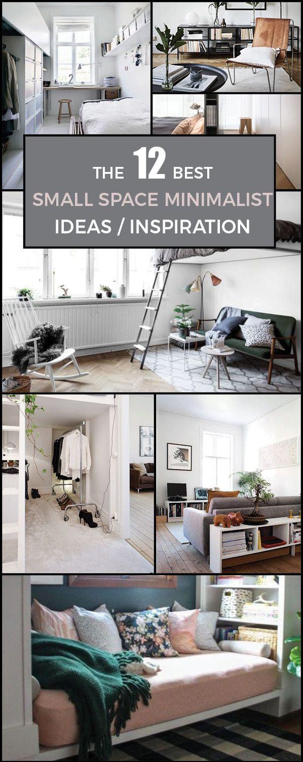 12 Small Space Minimalist Ideas / Inspiration | Minimalist, Small Space  Living And Small Spaces