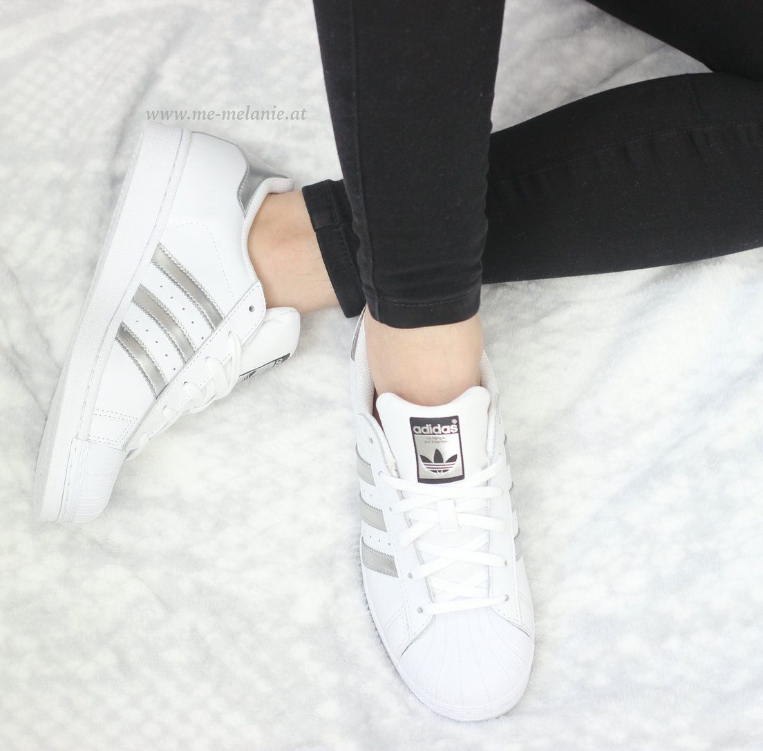 adidas superstar metallic argento