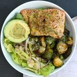 """The Defined Dish"" Recipost ""Mustard Salmon Bowls"" Salmon, Dijon, mustard, glutenfree, whole30,"
