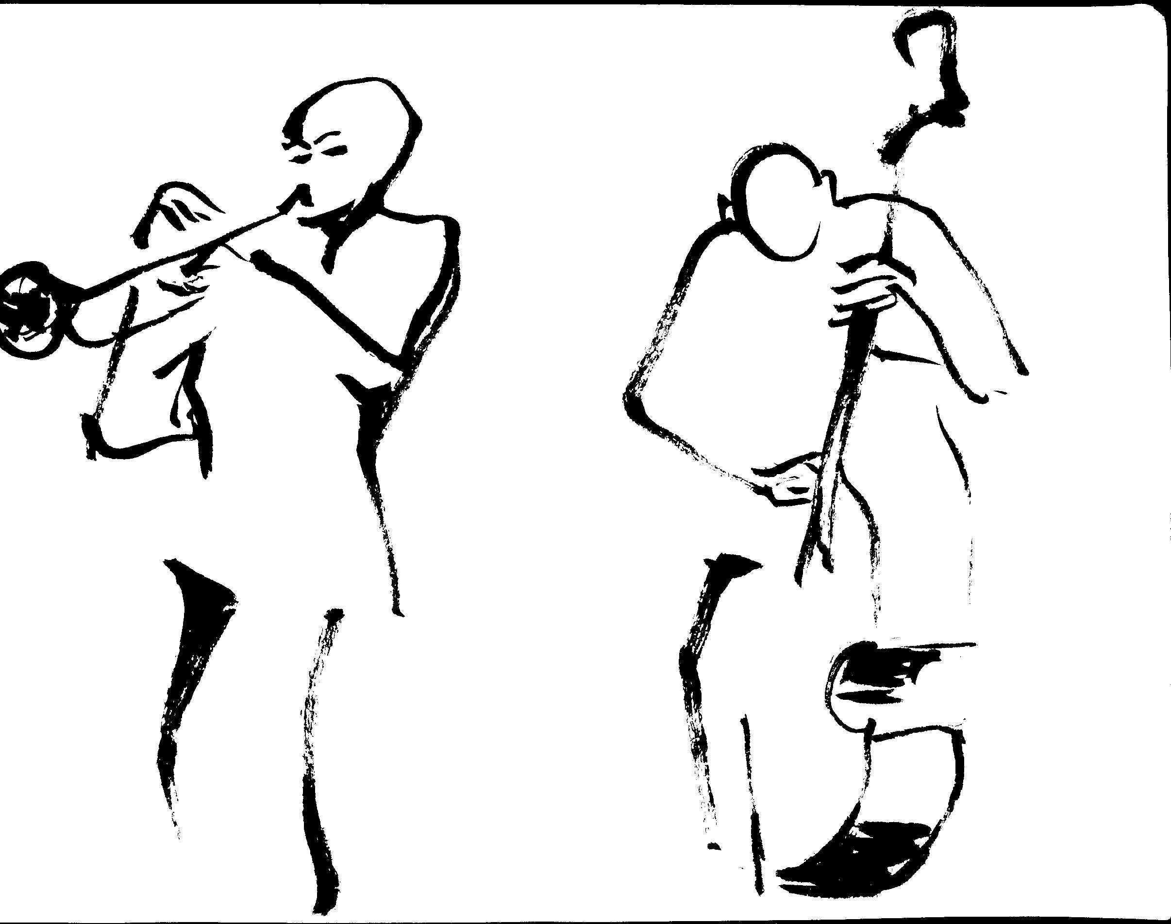 trumpet & bass player Lyon feb 2013