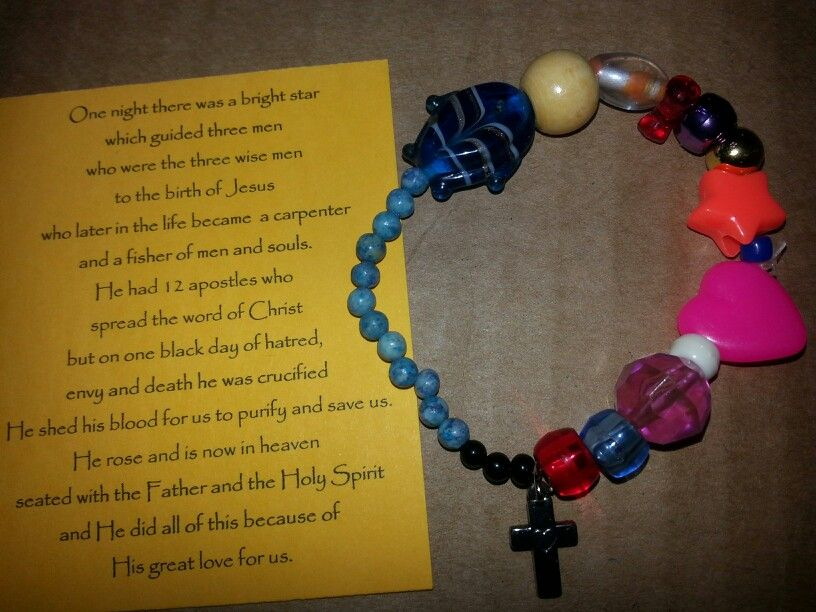 Life of christ bracelet christmas or easter gift for sunday school life of christ bracelet christmas or easter gift for sunday school kids children class i would tweak the narrative just a bit but good idea negle Choice Image
