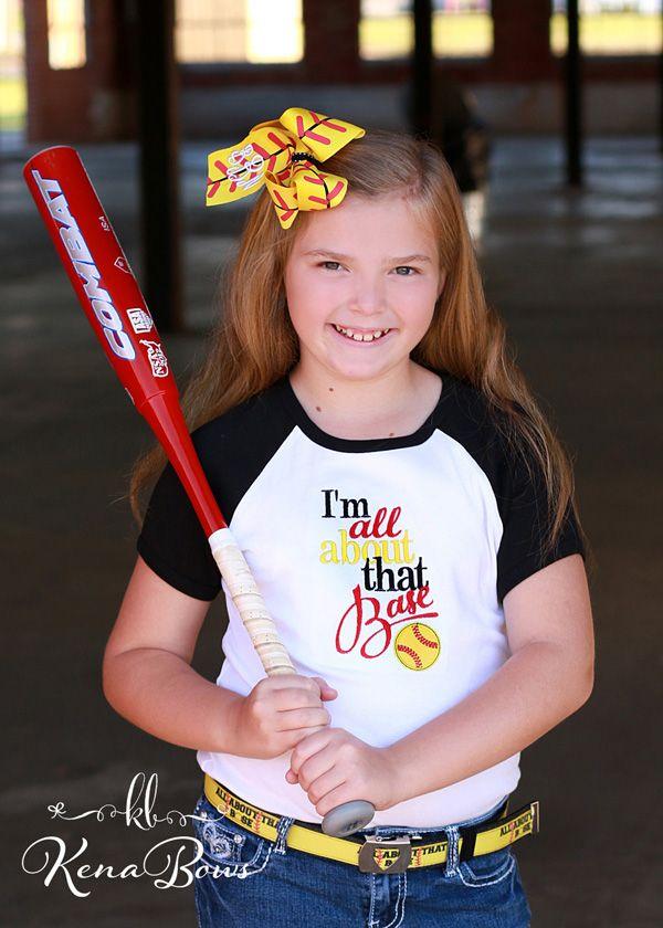 01345553feb Girls Softball Embroidered Shirt