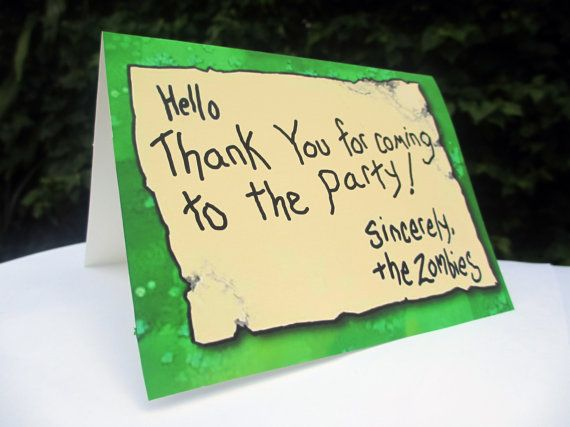 Plants vs Zombies Party Printable Thank You Card Plants vs – Zombie Party Invitations Free