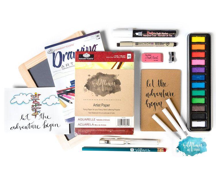 Hand Lettering Kit Award Winning Diy Kit Includes Book