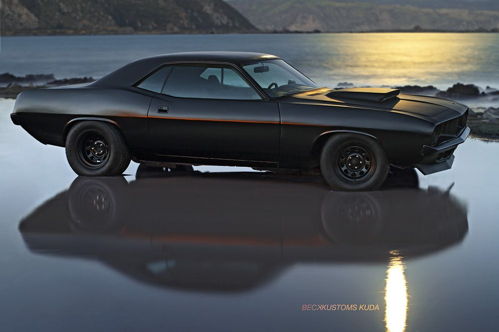 Custom 1973 Plymouth Barracuda by BeckKustoms. It can be any color, as long as it's black.