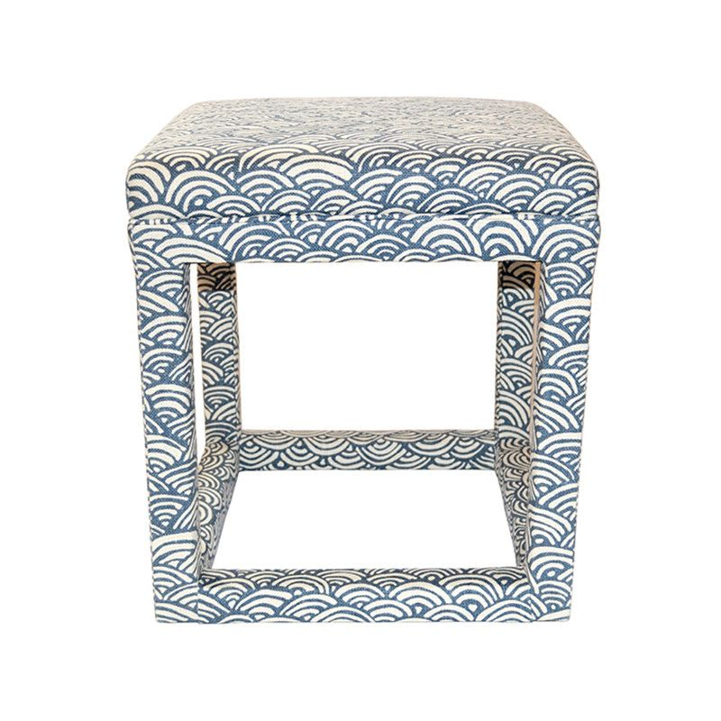Marvelous Blue Square Ottoman And Seat Featuring Geometric Hand Alphanode Cool Chair Designs And Ideas Alphanodeonline