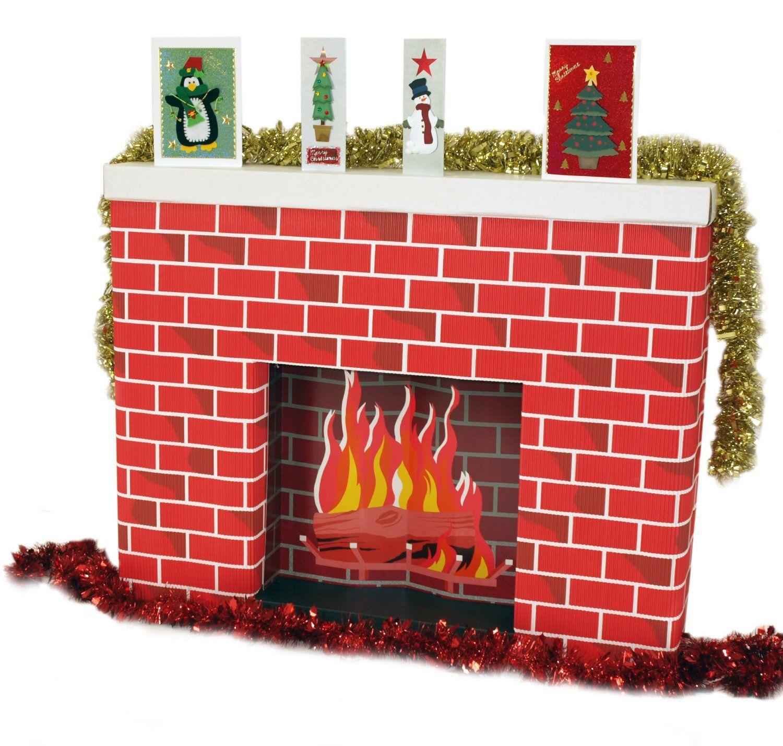 Fabuleux Faire une fausse cheminée avec des boîtes en carton | DIY X-mass  SA48