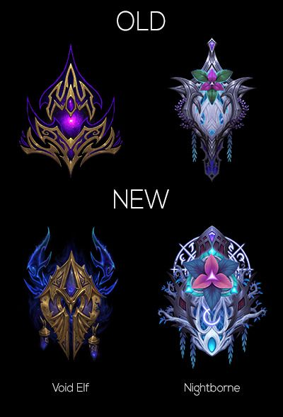 Blizzard Updated The Void Elf And Nightborne Race Crests