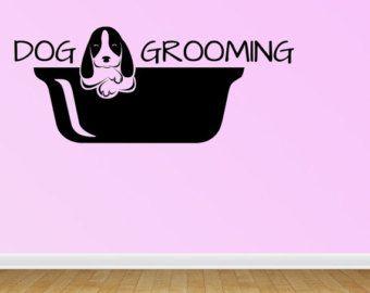 Pet Grooming Wall Decal Dog Grooming Salon Decals By Bestdecals Salon Decals Dog Grooming