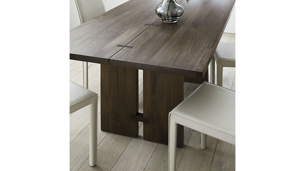 Monarch Shiitake Dining Tables Crate And Barrel Dining Table