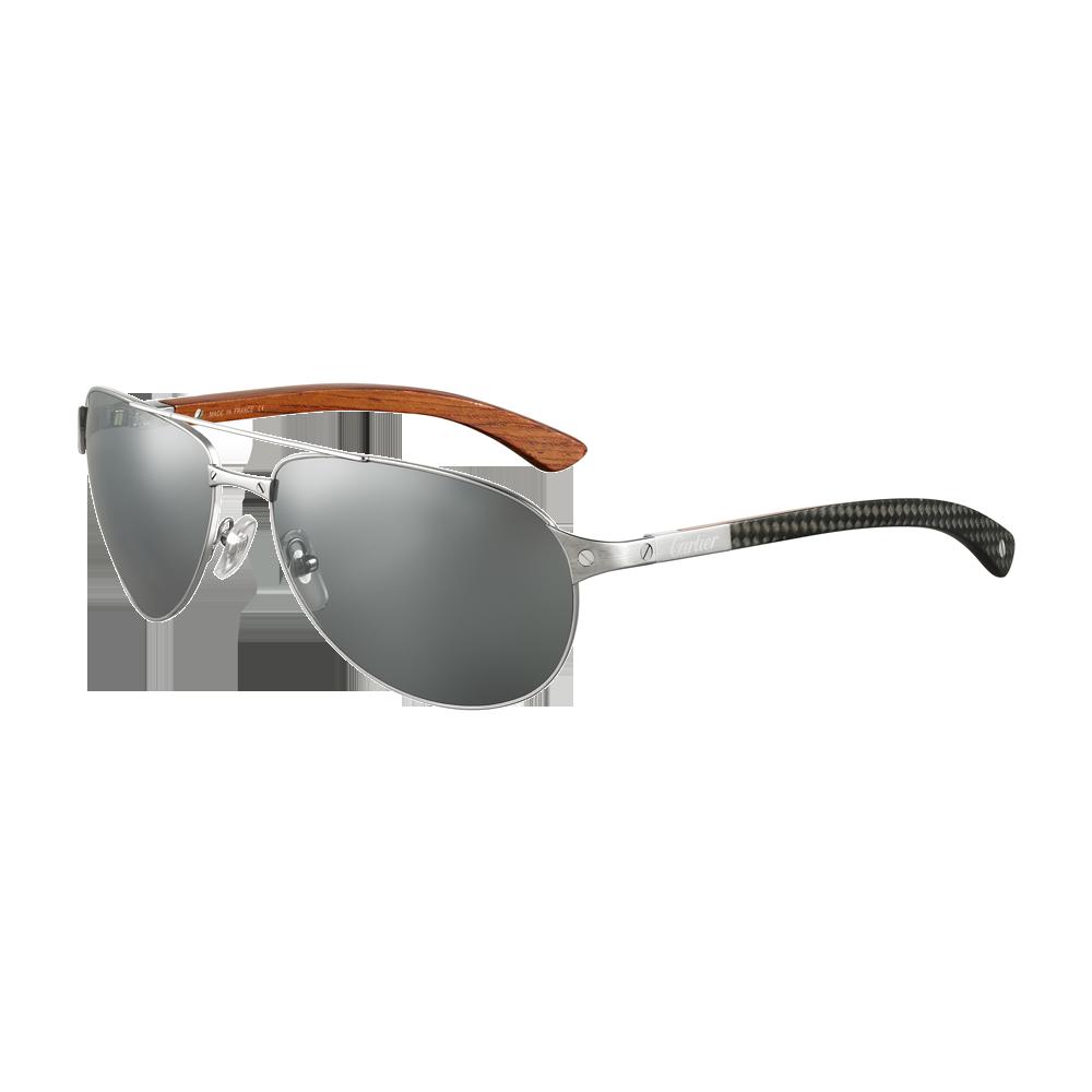 Santos de Cartier rimmed sunglasses