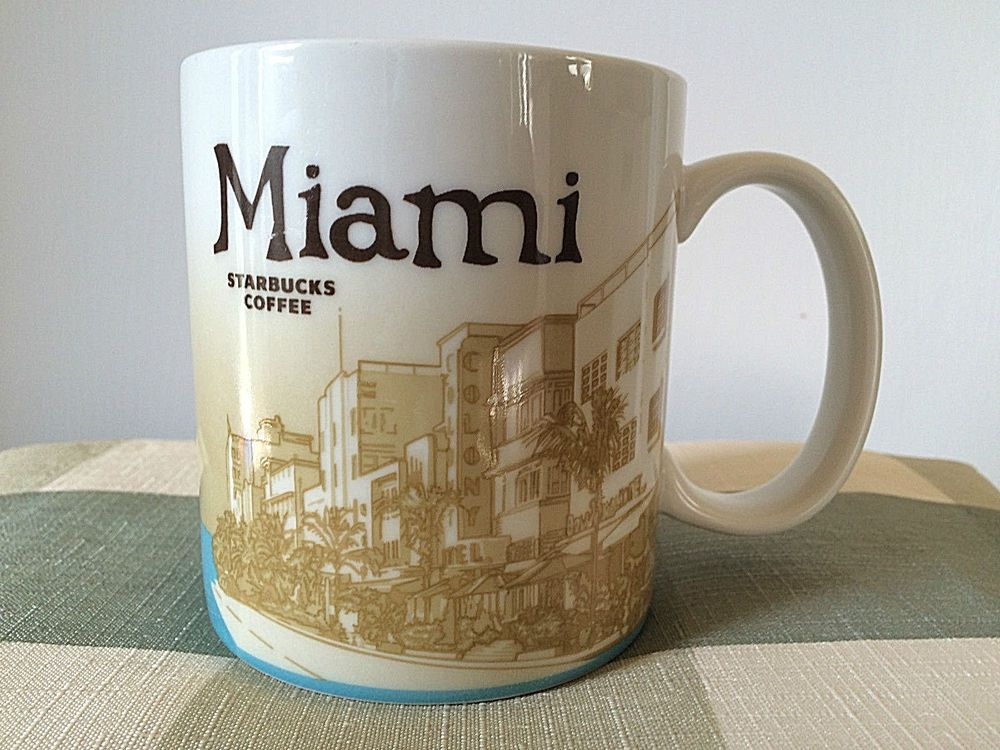 Starbucks 2009 Miami Florida Collector City Series 16 oz