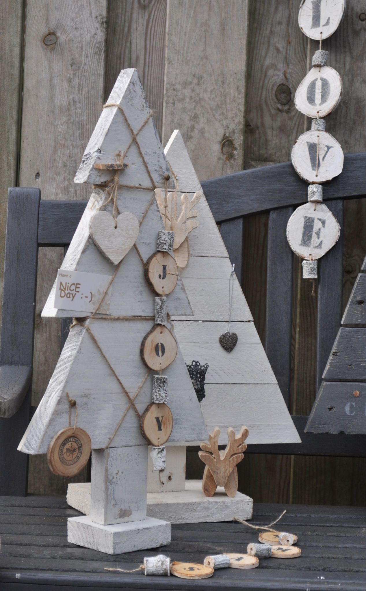 Wood christmas tree cutout - Simple Cut Out Wooden Trees Made Adorable With Simple Embellishments
