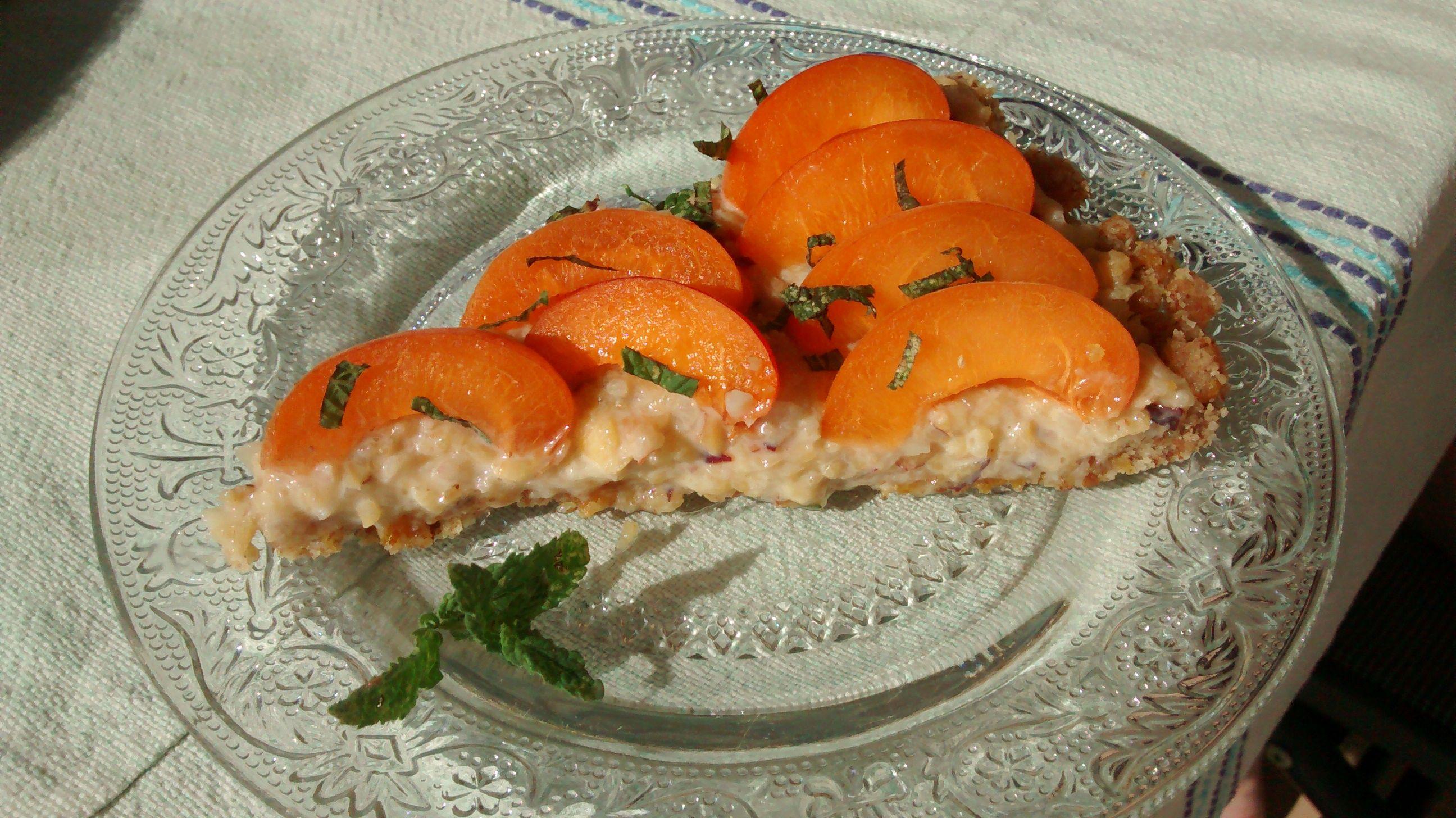 Tarte crue abricot menthe (vegan, sans gluten, sans lait ...
