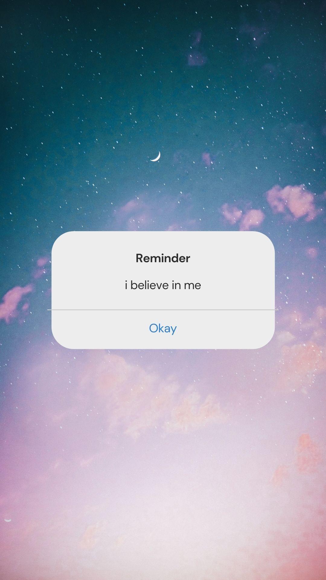Reminder: just believe