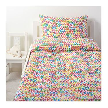 IKEA STICKAT quilt cover and pillowcase