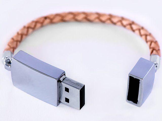 Scandinavian Design Leather Usb Bracelet