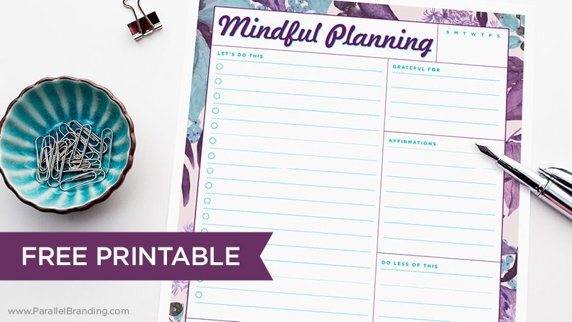 Free Printable Daily Planner Free Template Get It Here Http