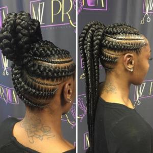 Mzpritea Ponytail Braid Styles Natural Hair Styles African Braids Hairstyles